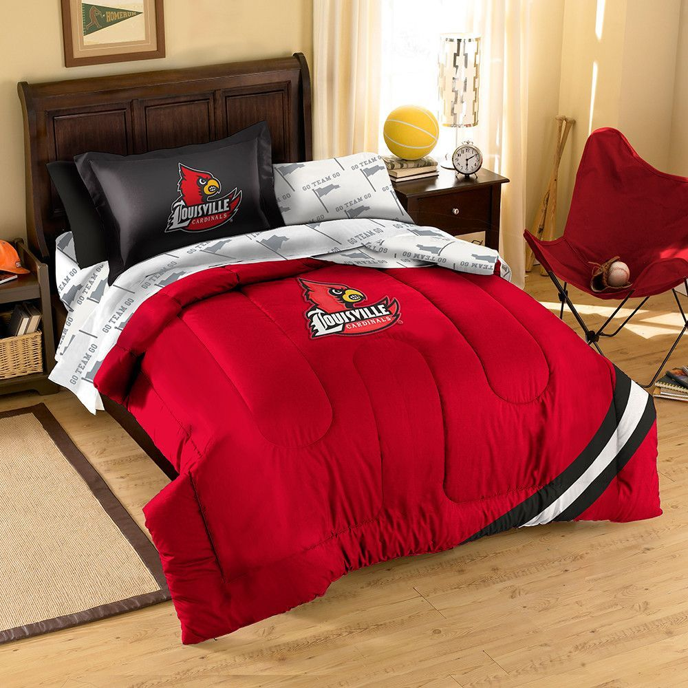 Louisville Cardinals NCAA Bed in a Bag (Contrast Series)(Twin)