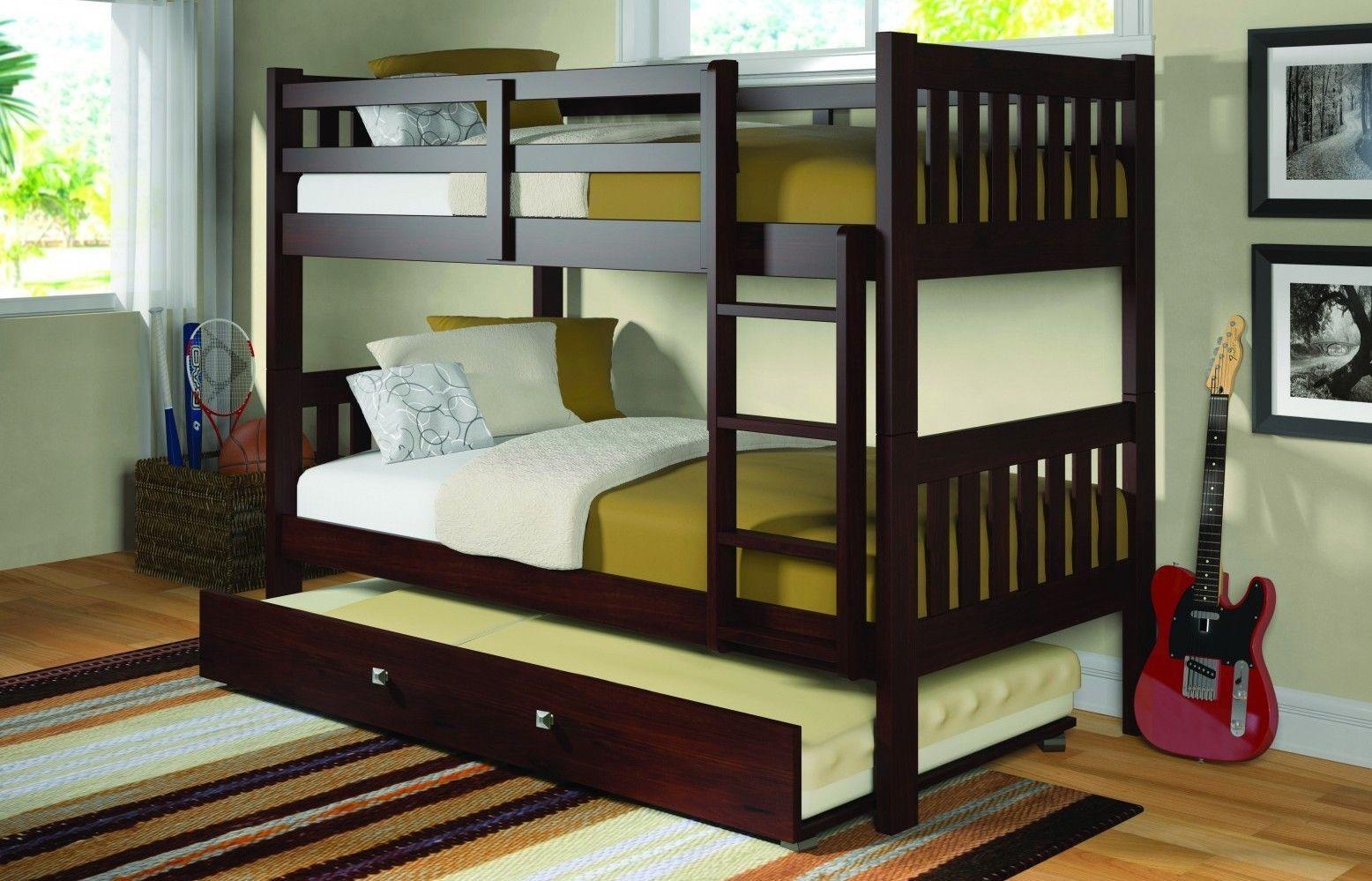 Best Aaron Trundle Bed In Dark Cappuccino Cool Bunk Beds 400 x 300