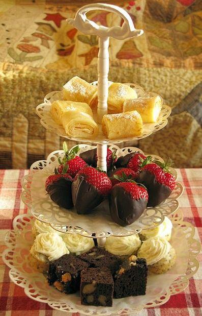 Tea Party Treats frutillas bañadas con chocolate, mis dos amores se juntaron :)