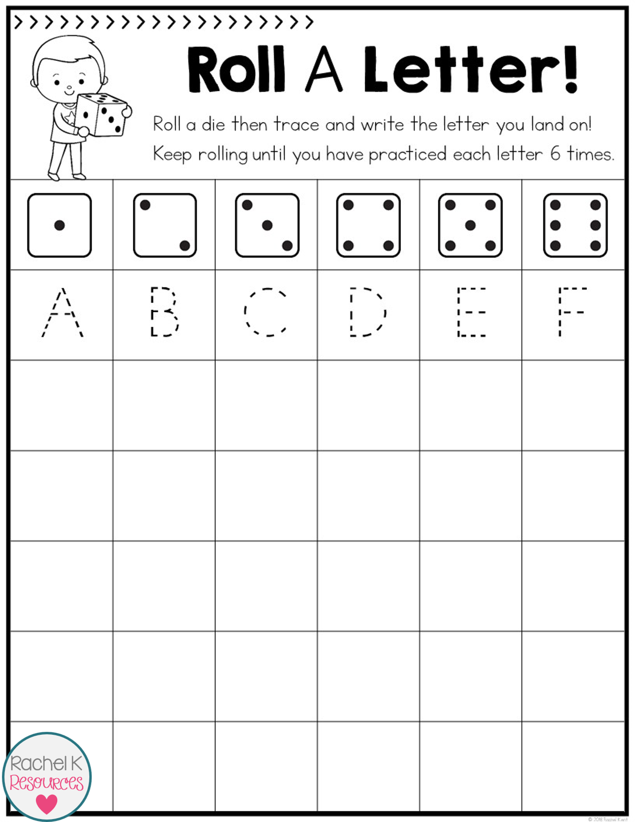 Roll A Letter - Handwriting Practice | Handwriting And Penmanship ...
