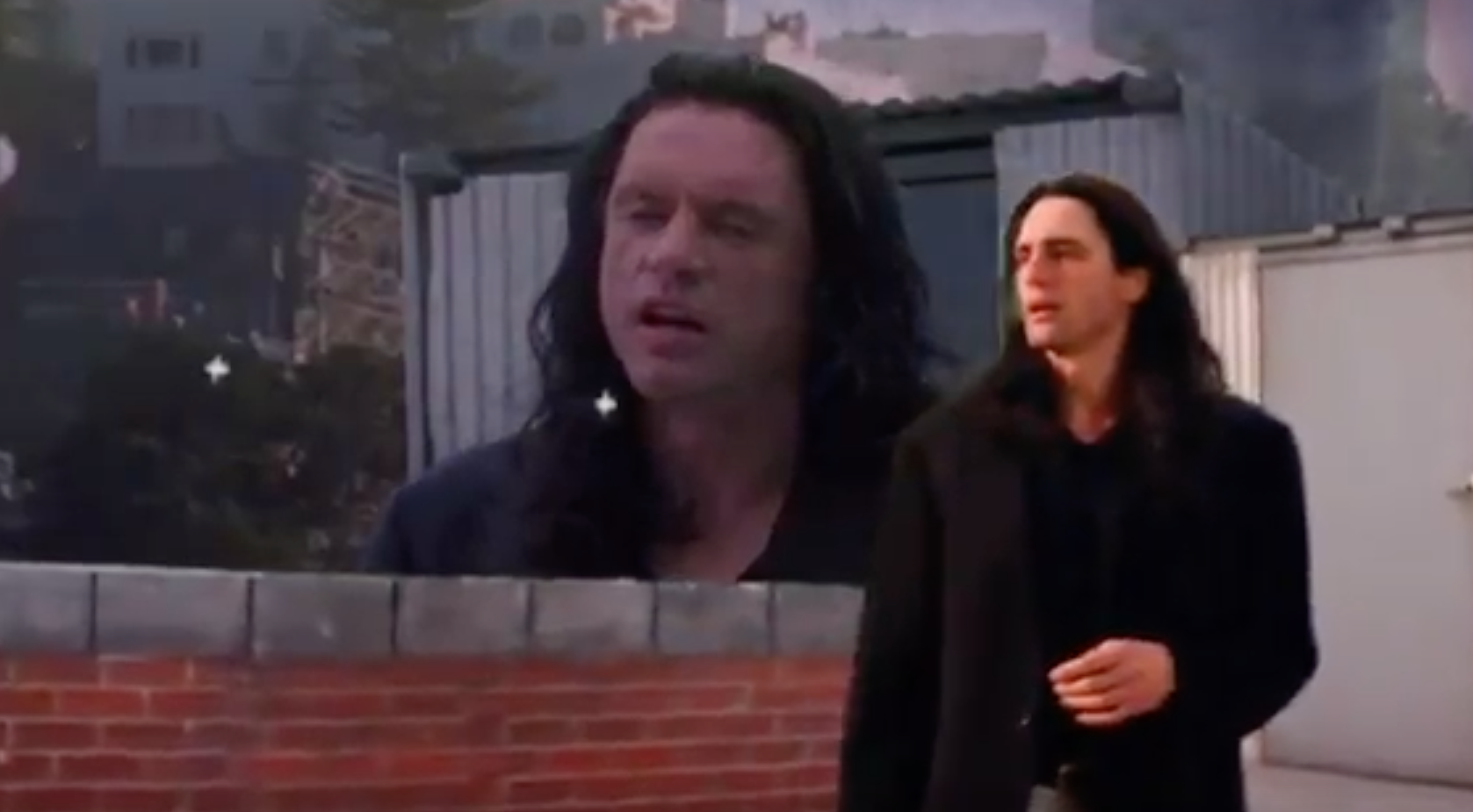 James Franco's Tommy Wiseau syncs incredibly well with the
