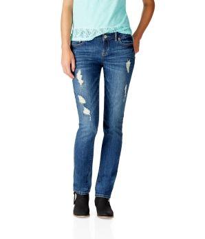 NEW! Bayla Skinny Destroyed Medium Wash Jean