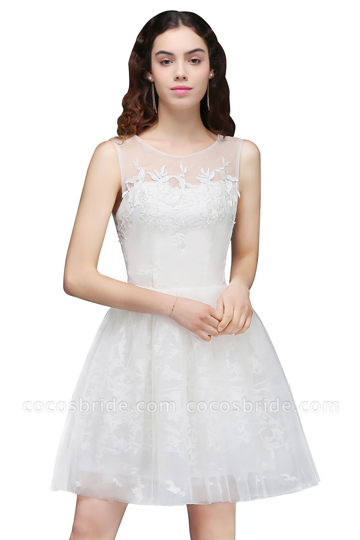 Affordable jewel tulle aline dress