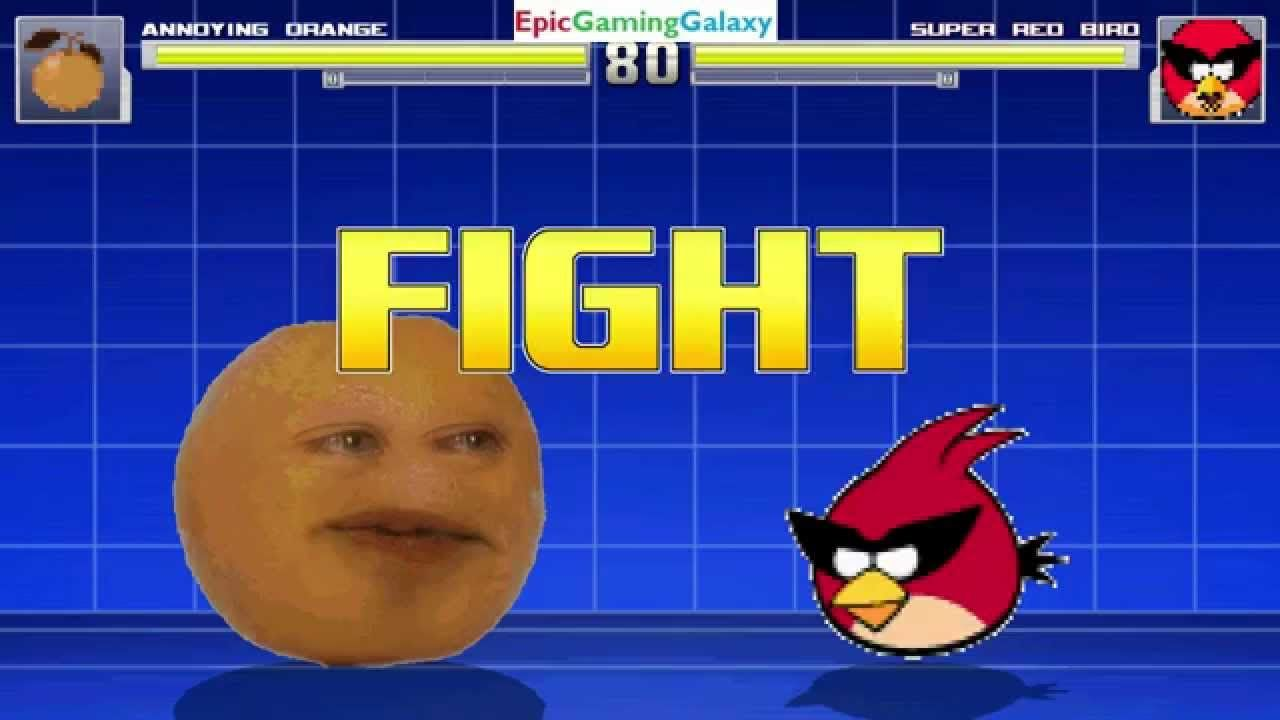 Super Space Red Bird Vs The Annoying Orange In A Mugen Match Battle Fight This Video Showcases Gameplay Of Supe Battle Fight Annoying Orange Felix The Cats