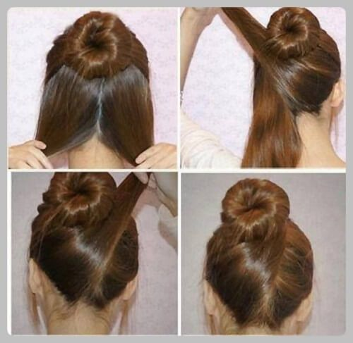 Indian Bun Hairstyles Step By Step Jpg 500 487 Hair Styles Thick Hair Styles Medium Hair Styles