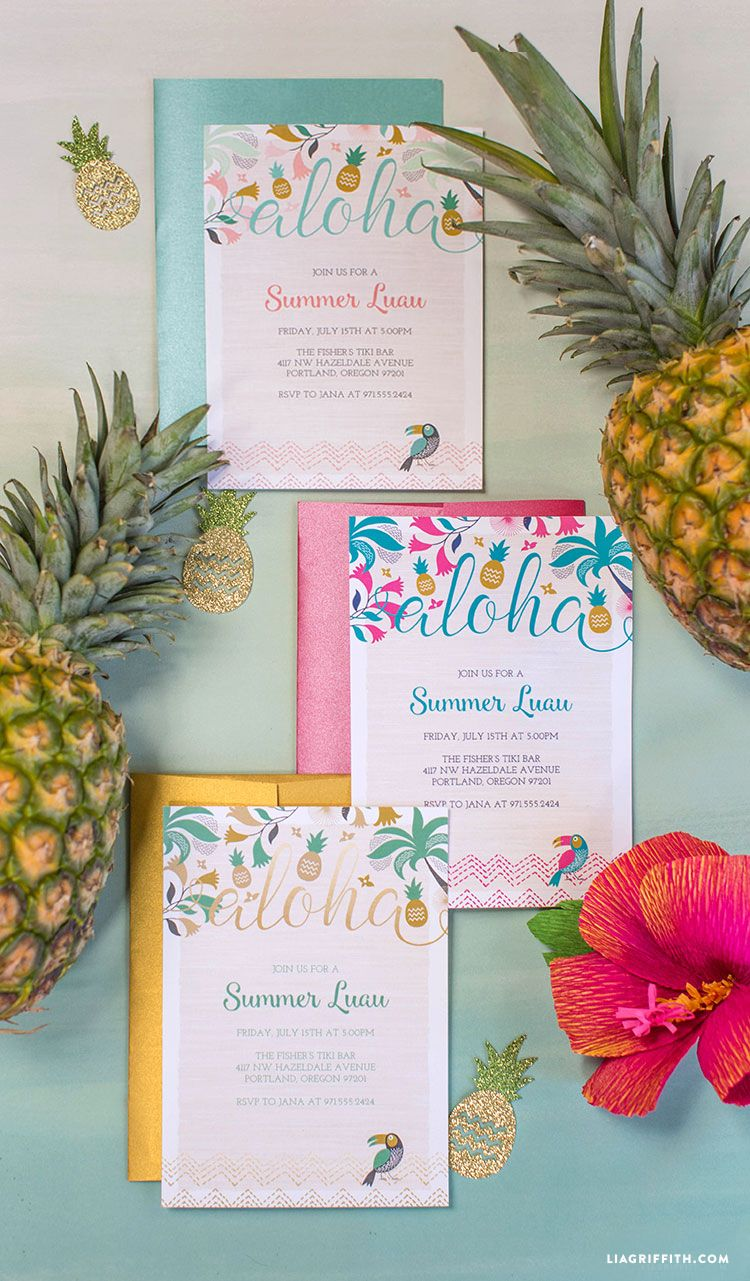 luau wedding invitation templates%0A FREE Printable Luau Party Invitations   Wow your luau party guests with  real Hawaiian wine from