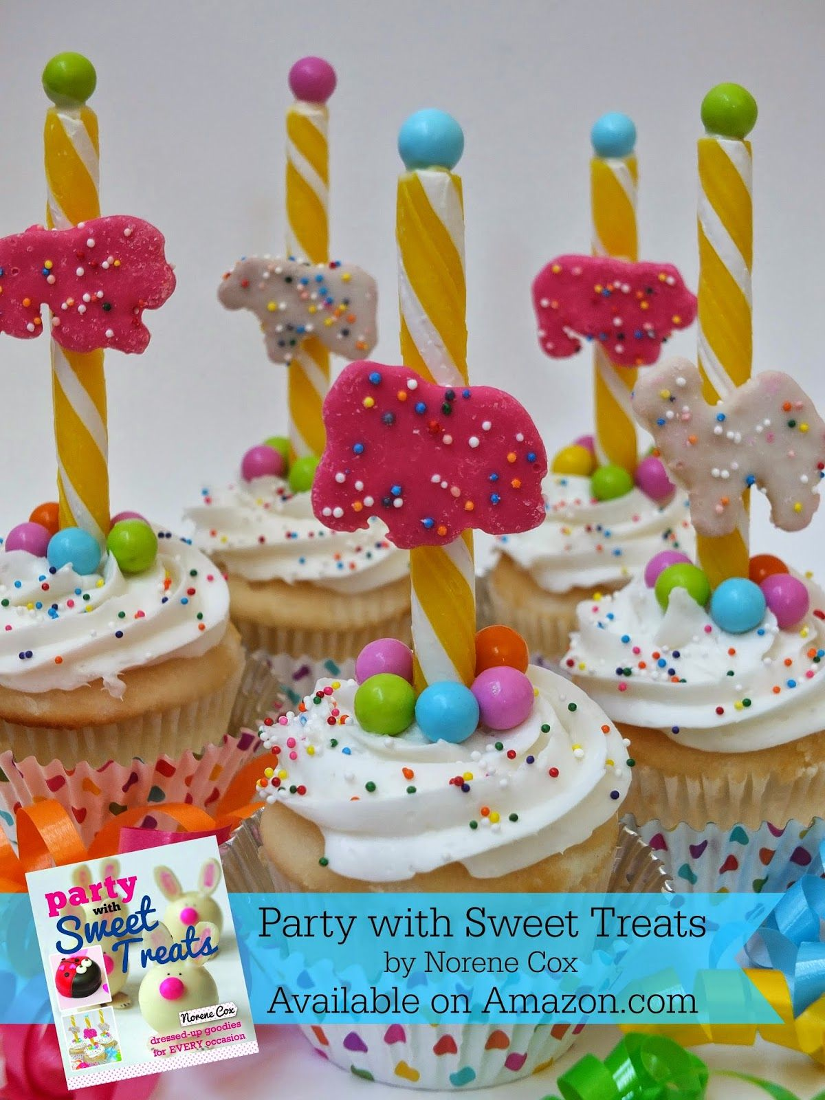 Party with Sweet Treats Book Review Carnival cupcakes