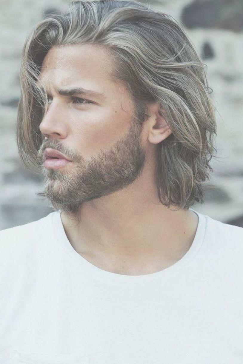 Blonde Hair And Beard White T Shirt Hairstyles For Men Medium Length Medium Length Hair Men Medium Length Hair Styles Medium Blonde Hair