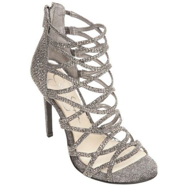 5396131a27f Jessica Simpson Criss Cross Sparkle High Heel featuring polyvore ...