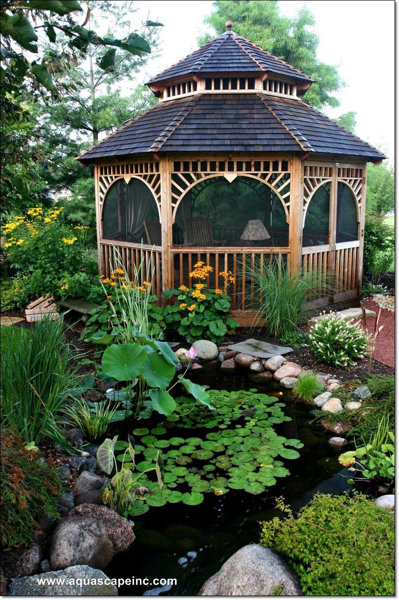 Water Gardening Ponds Backyard Backyard Gazebo Garden Gazebo