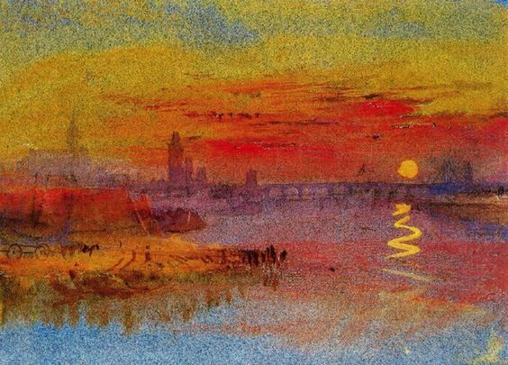 The Scarlet Sunset 1833 Jmw Turner Impressionism Before The