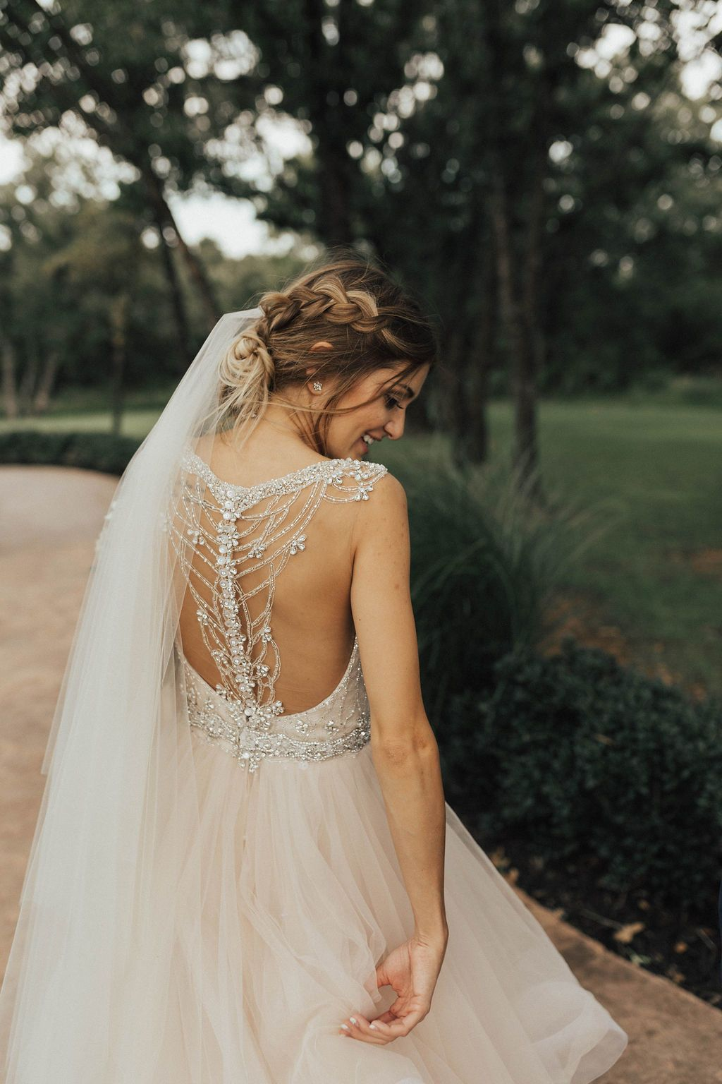 Open Back Wedding Dress 2018 Gown Trends Brides Of Oklahoma Tulle Flowing Bride Bohemian Boho