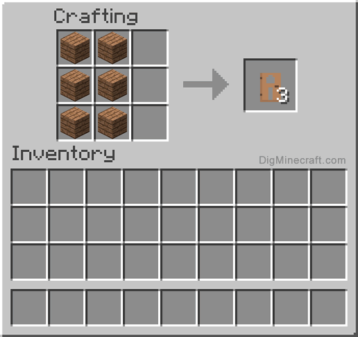 How To Make A Jungle Door In Minecraft And More Crafting Recipes Crafting Recipes Minecraft Crafting Recipes Crafts