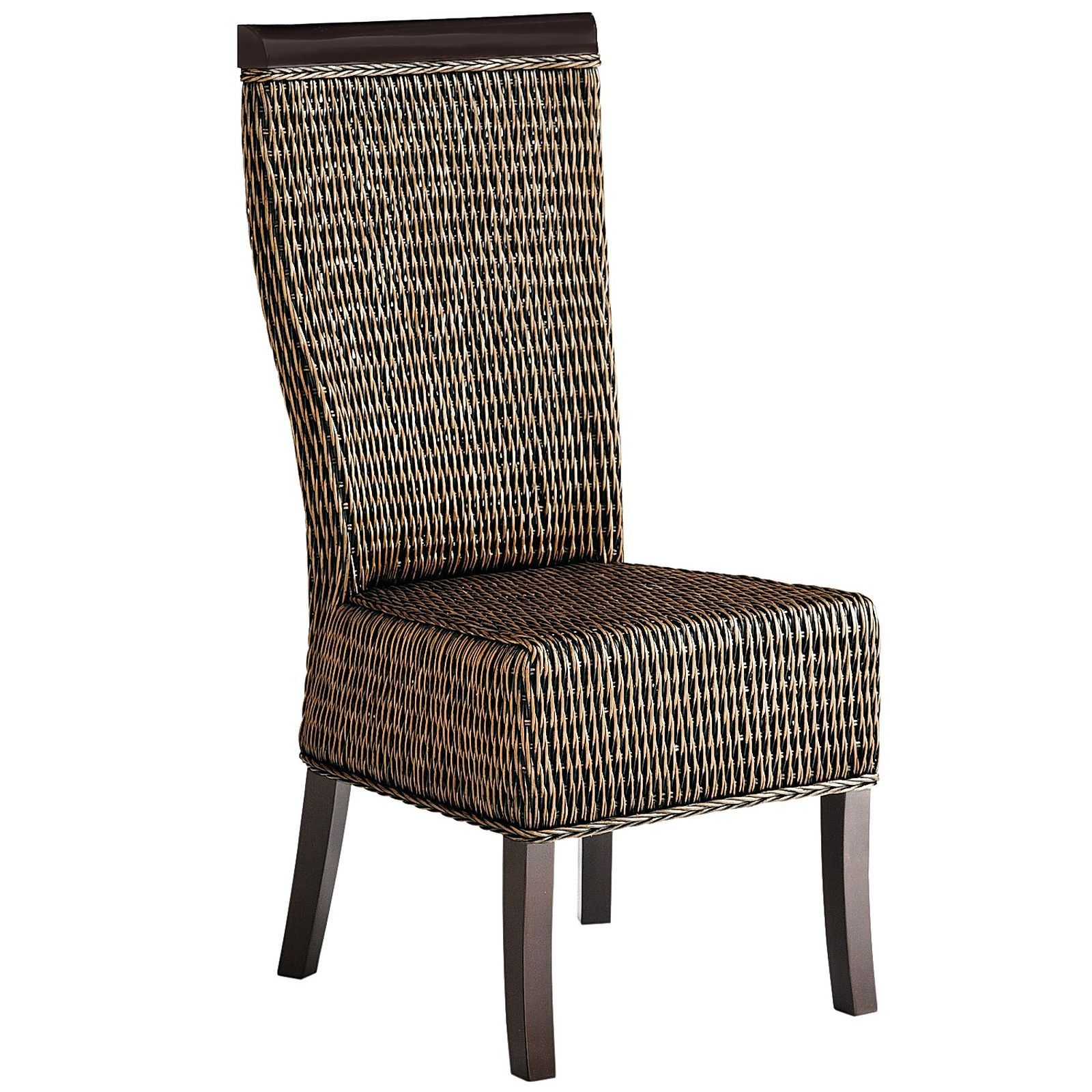 Our handcrafted rattan chair is fully dressed for dinner with a polished mango wood frame rattan chairsdining chairsapartment furniturepier 1