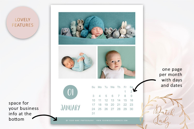 Modelli Calendario 2021 Photoshop PSD Photo Photo Calendar 2021 ¨C Adobe Photoshop Template #4 #ad