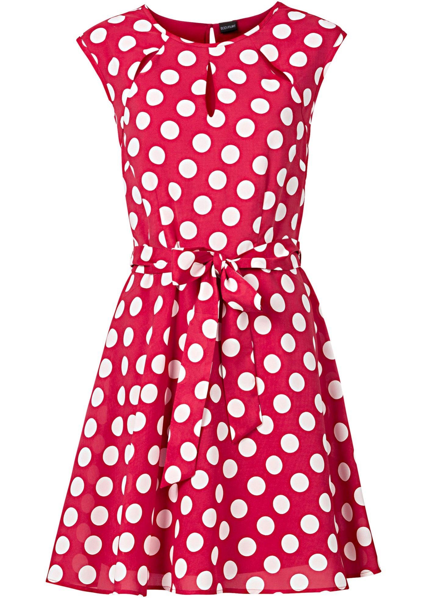 puntíkované šaty červeno-bílá - bonprix.cz | modestil, kurze
