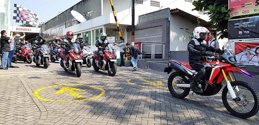Astra Motor Yogyakarta Gelar Touring Bareng Honda Adv 150 Honda Sepeda Motor Motor Honda