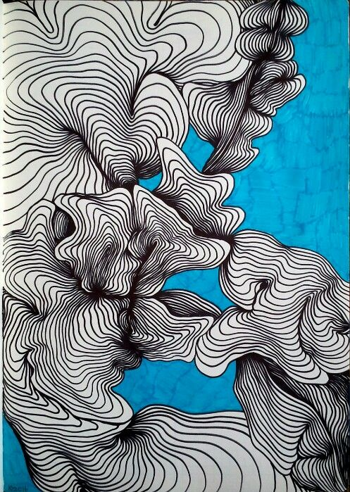 line, lines draw, graphics, drawing, abstraction, abstract drawing ...