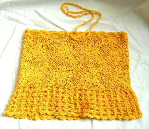 free crochet dress patterns for women | Crochet clothing patterns: halter top, dress, wedding dress