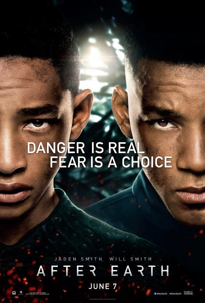 Will Smith Jaden Smith In First After Earth Movie Poster Peliculas De Superacion Personal Después De La Tierra Peliculas De Will Smith