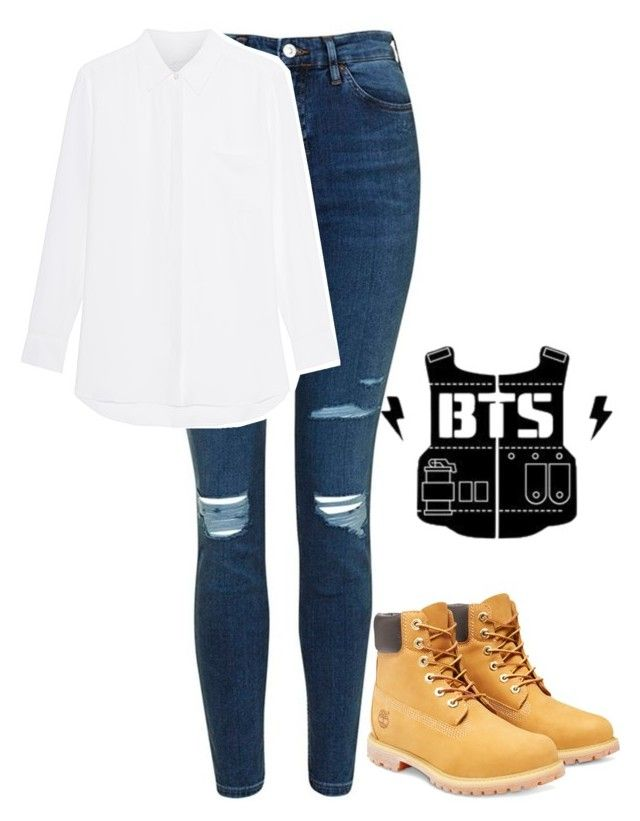 BTS - JUNGKOOK - OUTFIT by jessy-693 on Polyvore featuring moda Topshop and Timberland | Kpop ...