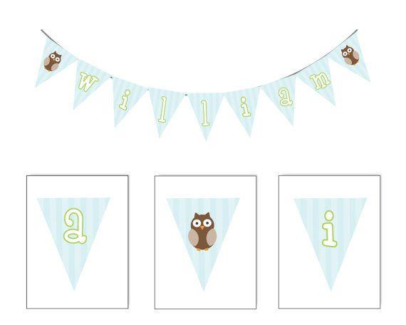 banner (With images) | Diy banner, Owl banner, Diy printables