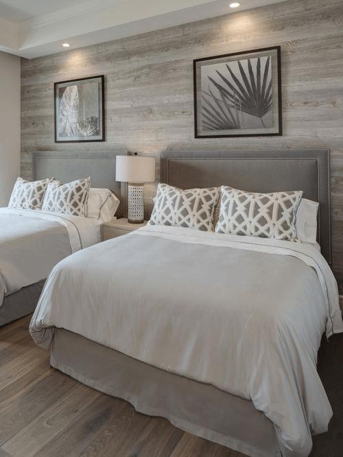 Schlafzimmer maritim dekorieren weiß grau Guest bedroom