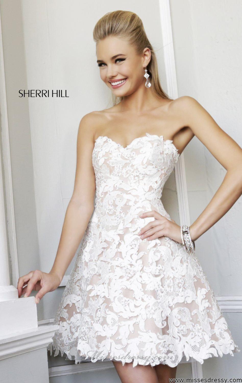 Sherri hill lace wedding dress  Sherri Hill  by Sherri Hill  CLOTHES  Pinterest  Lace dress