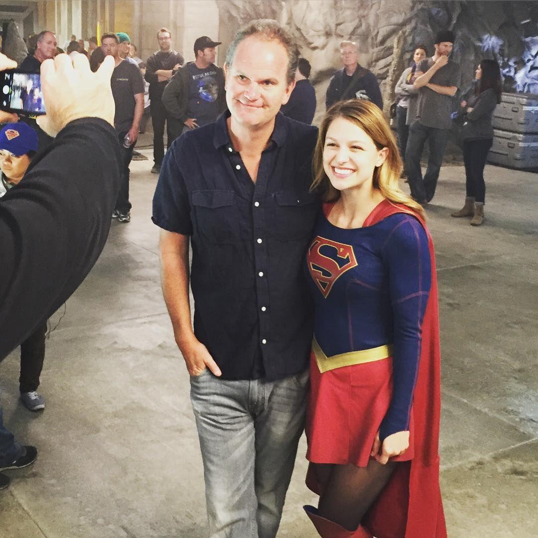 Ali Adler On Instagram Premiere Of Supergirl Behindthescenes Superpeople Pilot Director Glenwinter Melissabenoist Supergirl Series Supergirl Premiere