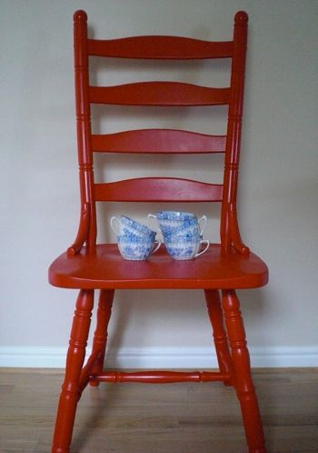 Paint thrift store chairs red & maybe some teal... looks great ... on peacock kitchen ideas, lake house kitchen ideas, plaid kitchen ideas, yellow kitchen ideas, two toned kitchen ideas, cow kitchen ideas, beige kitchen ideas, owl kitchen ideas, coral kitchen ideas, guinea pig kitchen ideas, dark wood kitchen ideas, purple kitchen ideas, blue gray kitchen ideas, rooster kitchen ideas, blue gingham kitchen ideas, vintage style kitchen ideas, bear kitchen ideas, camo kitchen ideas, black marble kitchen ideas, white on white kitchen ideas,