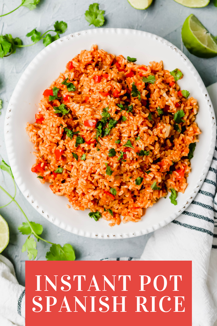 Instant Pot Spanish Rice - For the Love of Gourmet