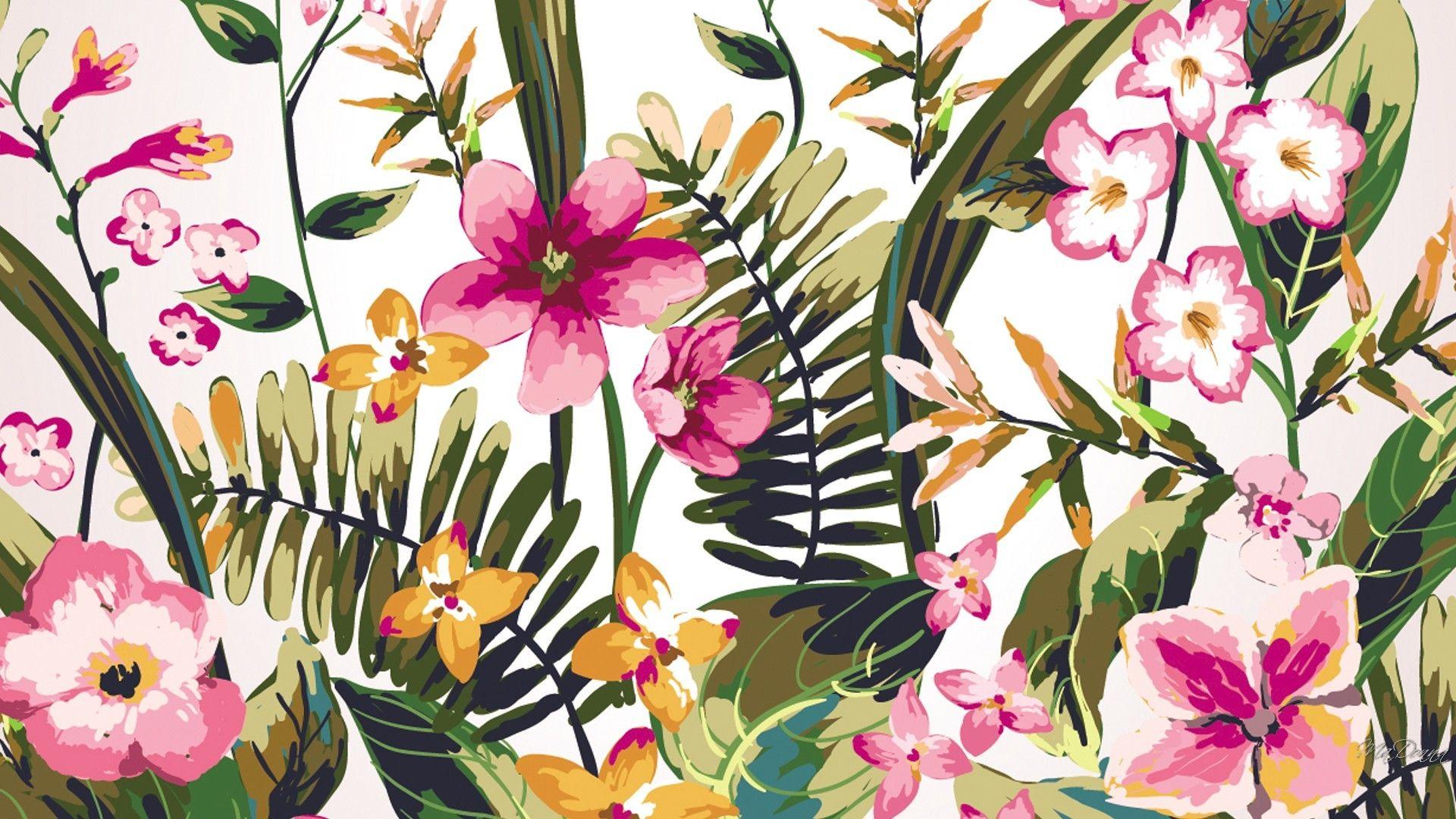 Watercolor Flowers Wallpaper Watercolor Desktop Wallpaper