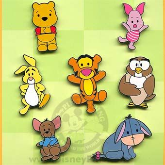 Disney Winnie The Pooh Message Card Set 6 Sets