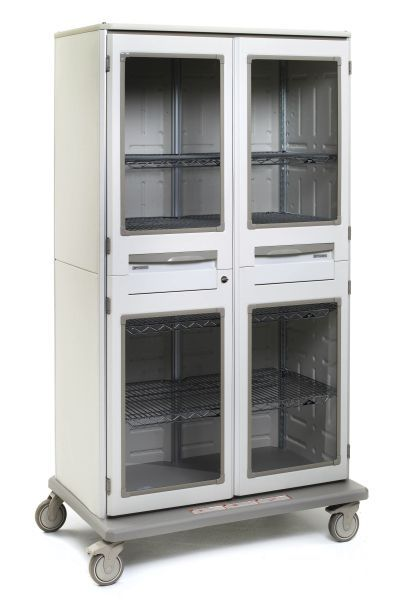 starsys tall mobile storage cabinet doublewide wclear door panels