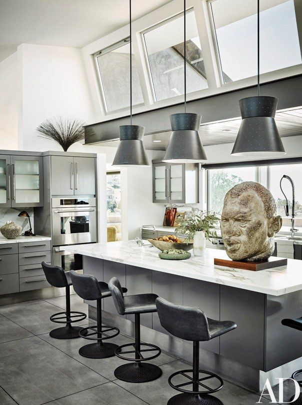 A Monumental 1950s Clay Sculpture Of Paul Robeson Keeps Watch In The Kitchen.  Custom