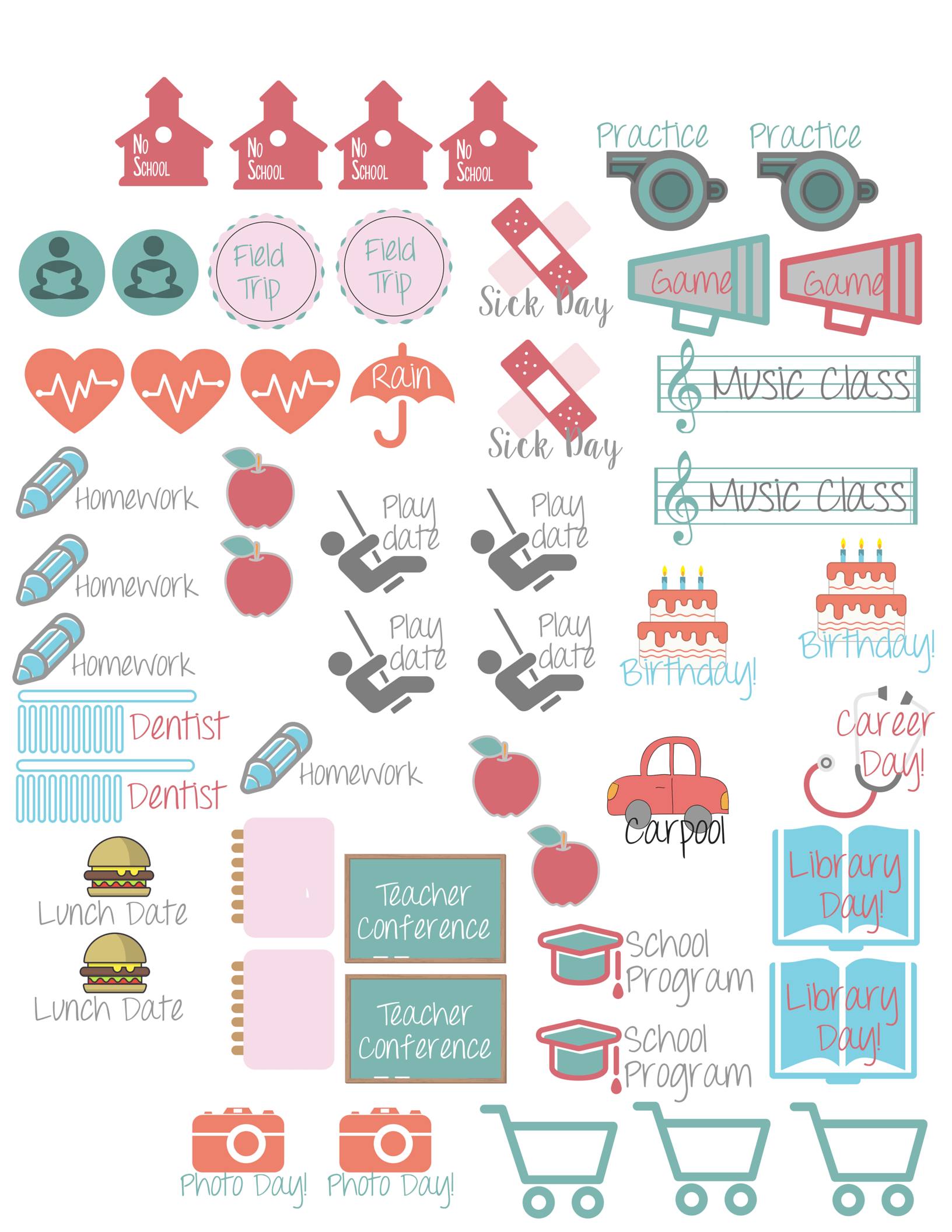 planner stickers for families icons planners and planner stickers