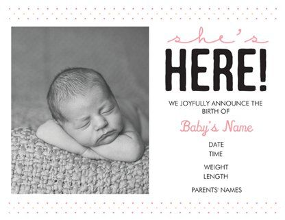 Personalized Invitations Announcements Designs Birth – Vistaprint Baby Announcements
