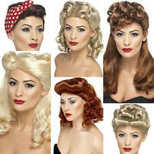 ladies wigs 1940's styles-wartime