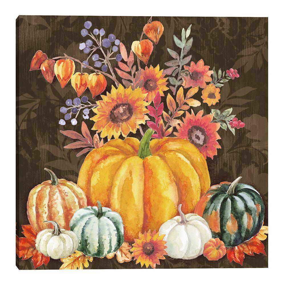 Fine Art Canvas Warm Harvest Wall Art Pumpkin Canvas Canvas Art Prints Autumn Art