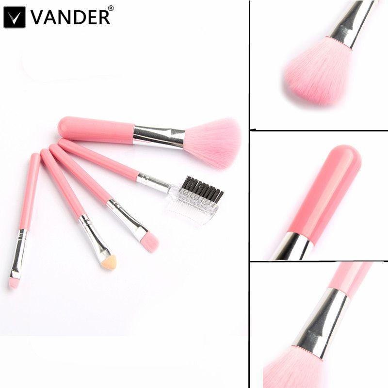Find More Makeup Brushes Tools Information About Vander Mini 5pcs Pink Makeup Brushes Cosmetics Tools Pincel Maquiage Pink Makeup Makeup Brush Set Makeup Brushes