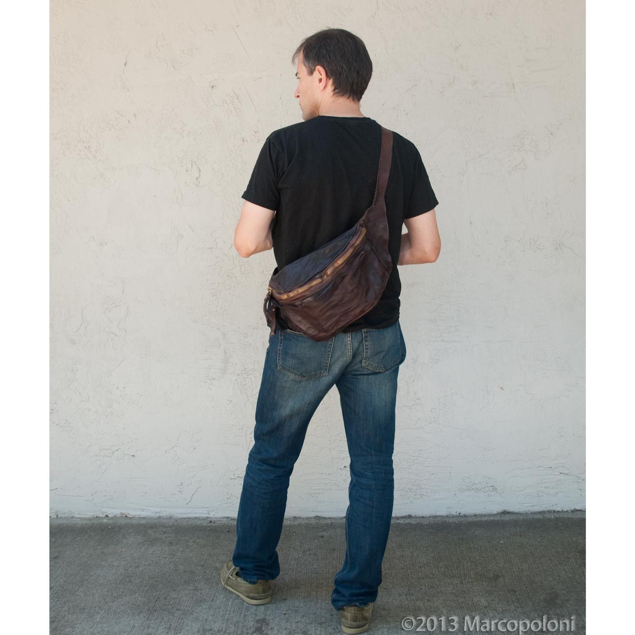 S-ZONE Mens Boys Vintage Canvas Leather Shoulder Military ...