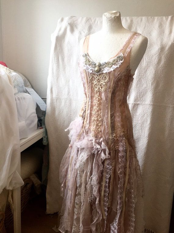 Wedding dress alternativebeaded pearl dressunique by RAWRAGSbyPK