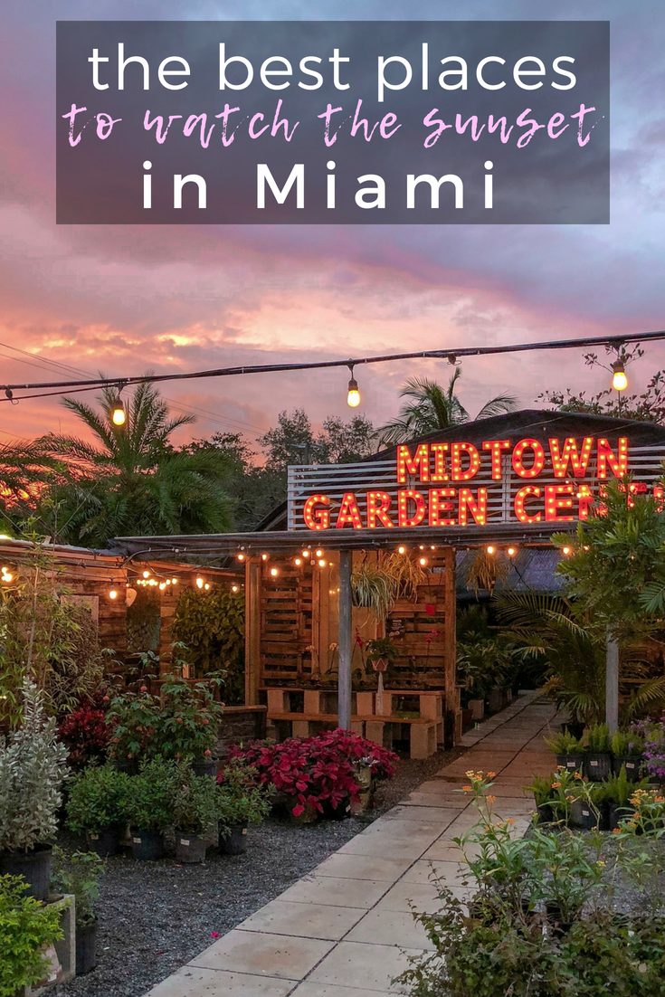 The Best Places to Watch the Sunset in Miami, Florida #travelnorthamerica