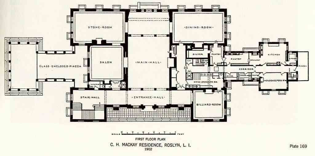 Harbor Hill Main Floor Architectural Floor Plans Mansion Plans Floor Plans