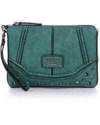 GUESS Chelsea Oversized Clutch Esmerald