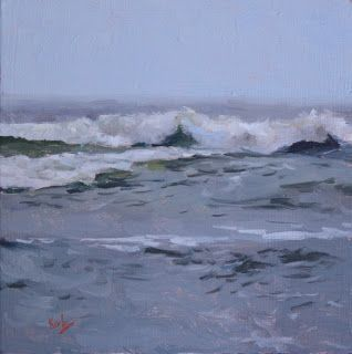 Artists Of Texas Contemporary Paintings and Art - Distant Waves