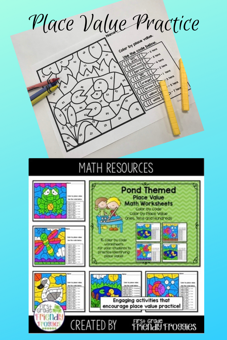 My Students Enjoy These Color By Code Practice Sheets Each Worksheet Focuses On A Specific Place Value Ones Tens Or Hun Math Coloring Place Values Fun Math [ 1102 x 735 Pixel ]