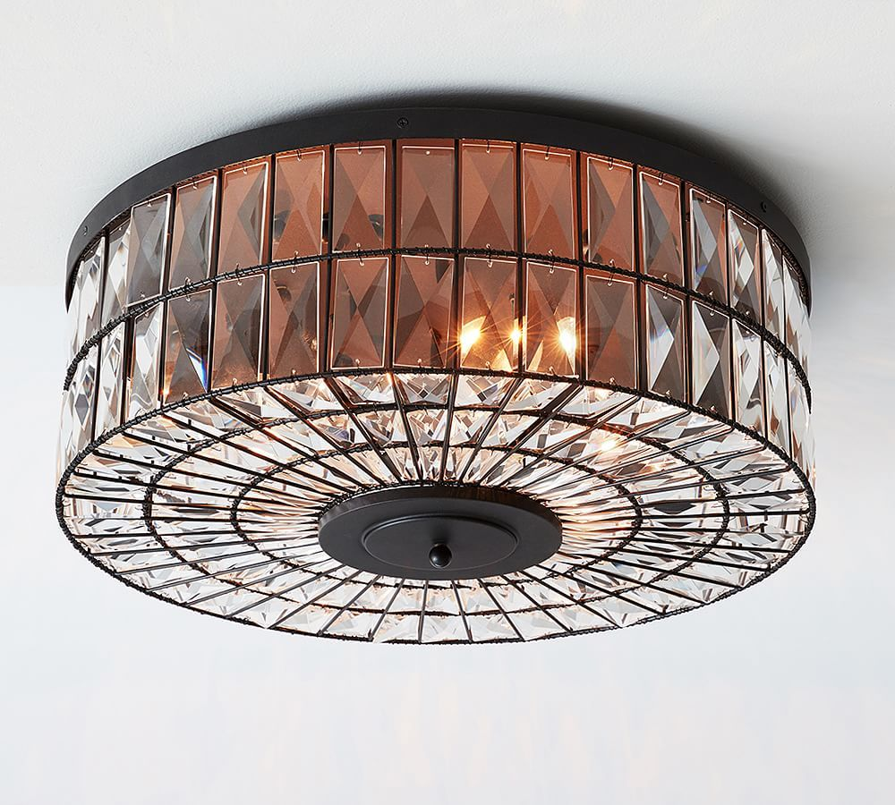 Pottery Barn Ceiling Light Fixtures: Adeline Oversized Crystal Flushmount At Pottery Barn In