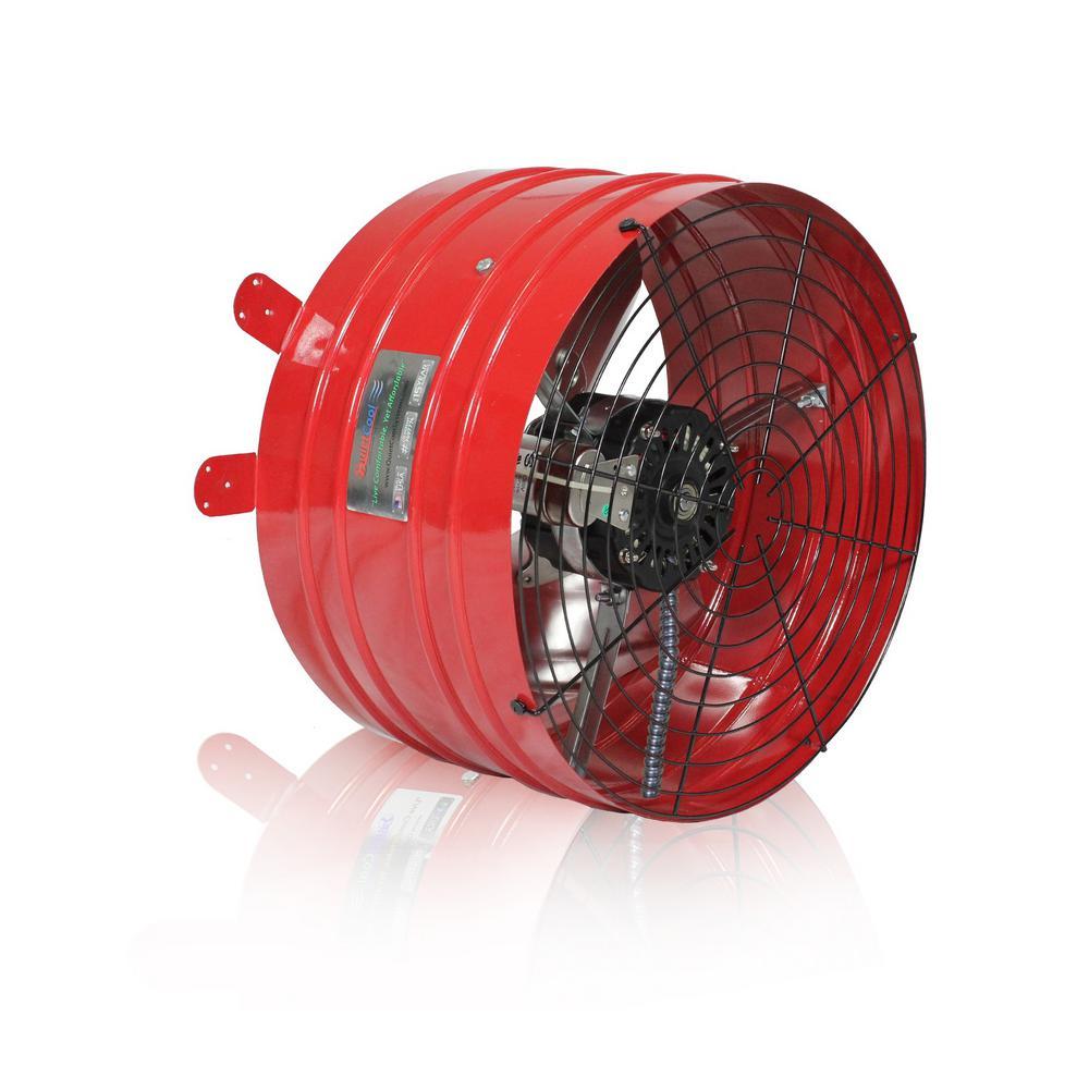 Quietcool Professional 3013 Cfm Power Gable Mount Attic Fan Afg Pro 3 0 Gable Fans Attic Fan House Fan