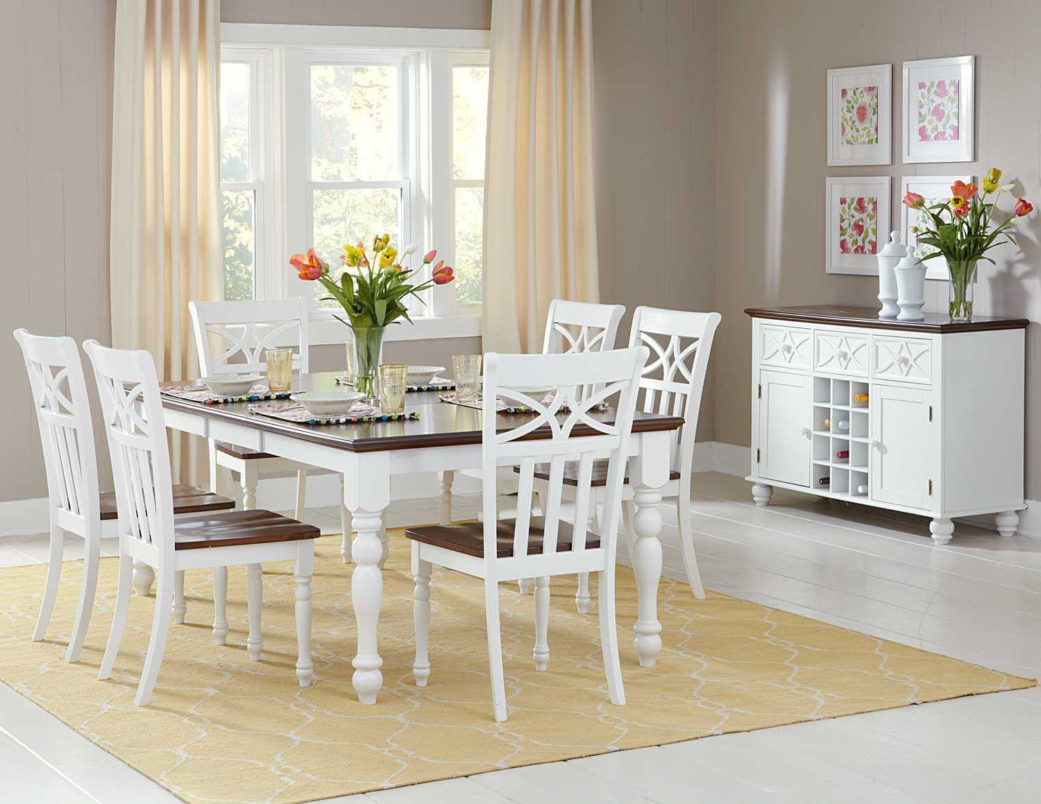 Tribecca home mackenzie 7 piece country white dining set - 17 Best Images About Homelement Homelegance Dining Set On Pinterest Cherries The Collection And Country Dining Rooms